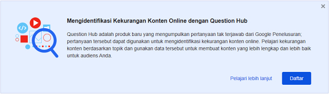 Pengenalan Question Hub Pada Blogger