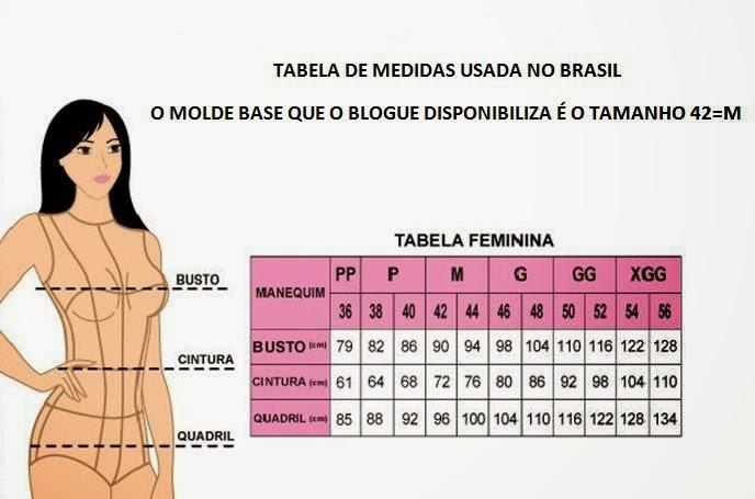 cc318413a Para modelar o seu tamanho compare a tabela de medidas e faça a gradação  aqui…(https   moldesdicasmoda.com passo-passo-gradacao-de-molde-base )