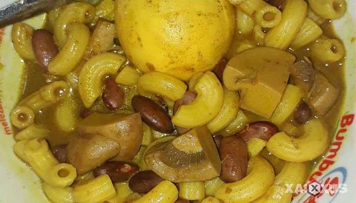 Resep gulai telur jamur kancing makaroni