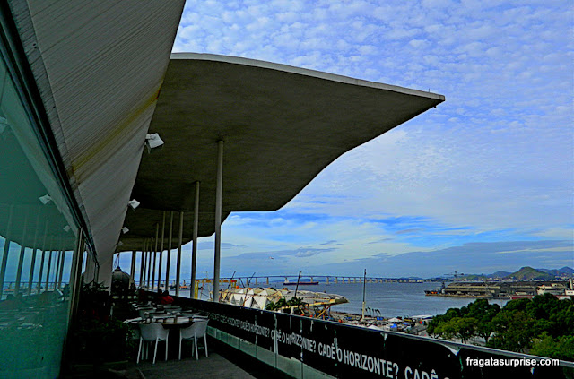 A Baía de Guanabara vista do terraço do MAR - Museu de Arte do Rio