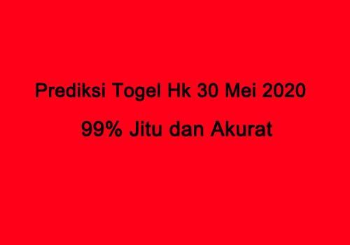 Prediksi Togel Hk 30 Mei 2020 Sabtu