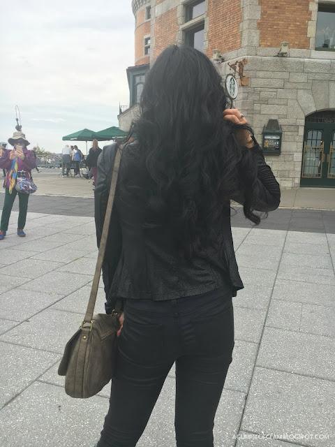 OOTD Fall Inspo Black Zippered Jacket Fashion Mia - Andrea Tiffany A Glimpse of Glam
