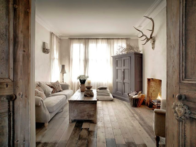 Modern Country Style: Modern Country Living Room Floors!