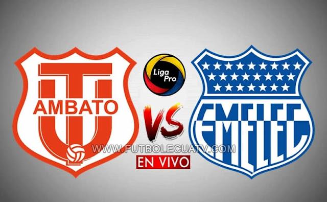 Técnico Universitario recibe a Emelec en vivo desde las 19:45 cerrando la fecha nueve del campeonato ecuatoriano, siendo emitido por GolTV Ecuador a efectuarse en el campo Bellavista de Ambato. Con arbitraje principal de Diego Lara.