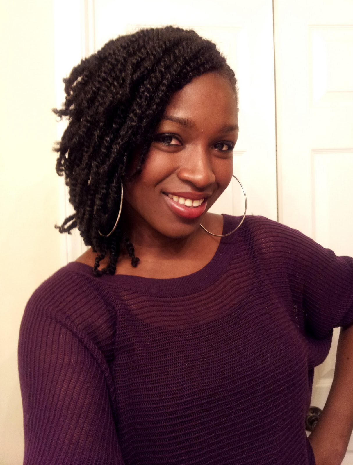 Natural Hair Fitness Inspiration Food  Nubian TwistKinky hairstyle for Winter