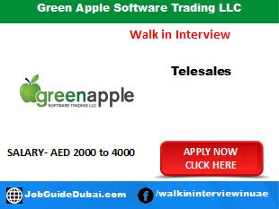 Green Apple Software Trading LLC career for Telesales Representative jobs in Dubai