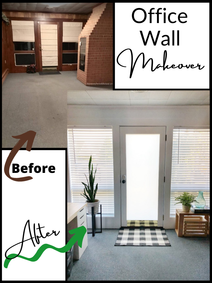 Office Wall Makeover - Before and After
