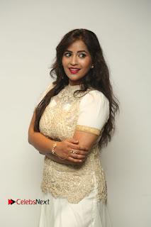 Actress Komali Stills in White Long Dress at Nenu Seethadevi Audio Launch  0069.JPG