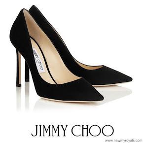 Princess Marie wore Jimmy Choo 'Romy' black suede pumps