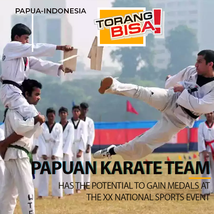 The Papuan karate team has the potential to win medals at PON XX