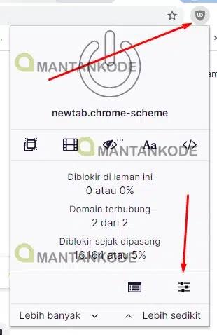 Buka Dashboard uBlock Origin - Kekurangan Memasang File Eksternal di Blog - mantankode