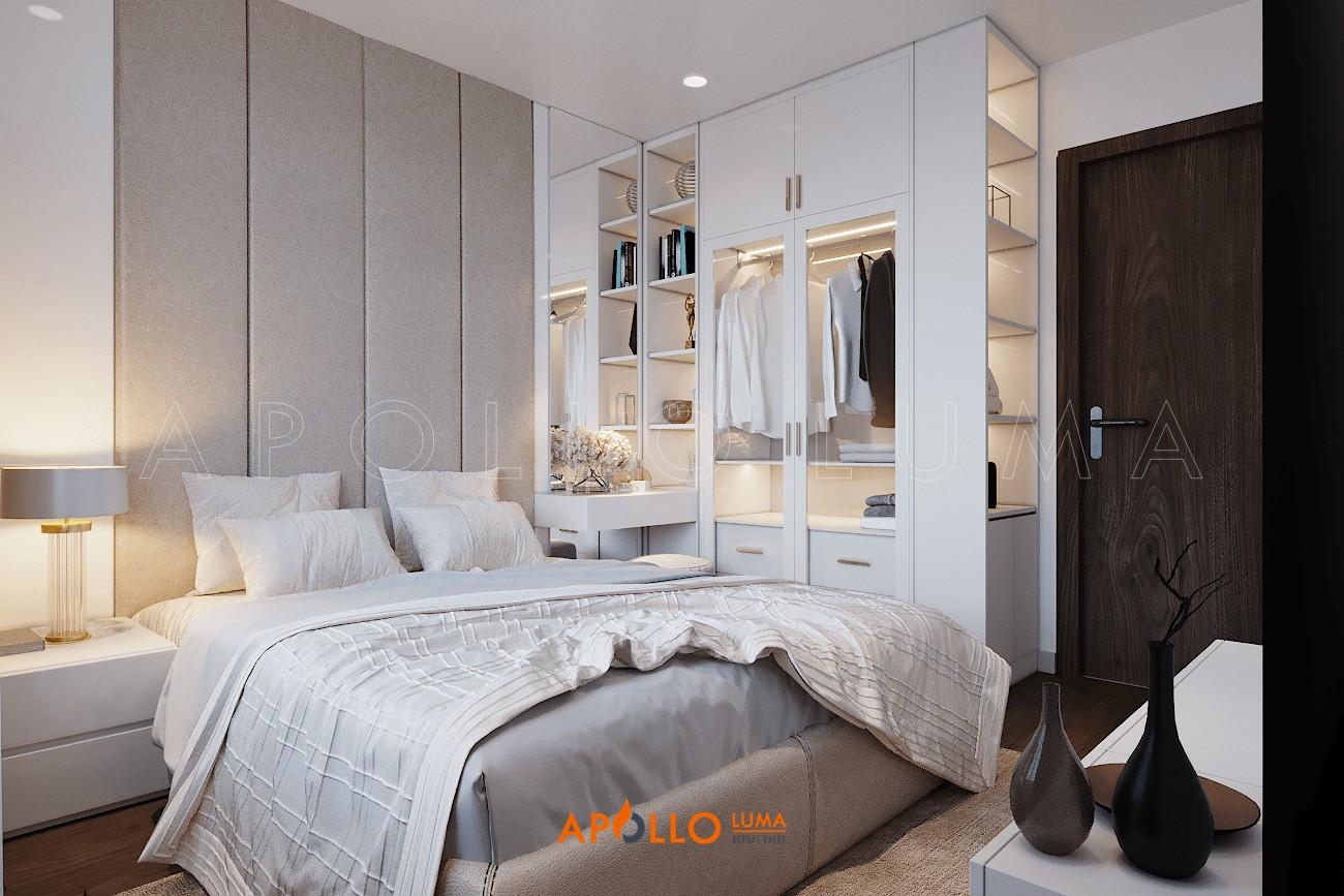 Thiết kế nội thất căn 2PN+1 (55m2) S1.10-20 Vinhomes Ocean Park Gia Lâm