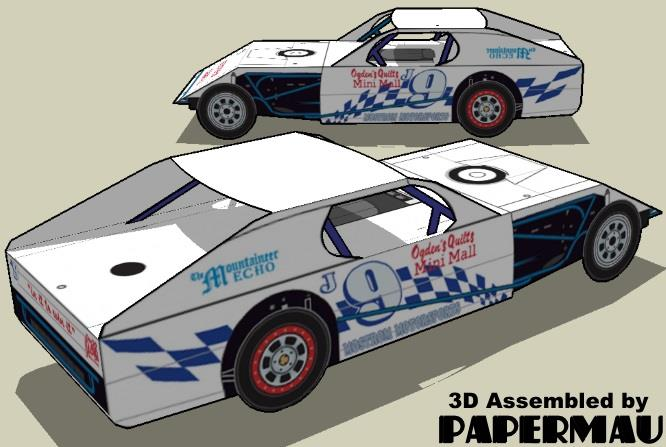 PAPERMAU: IMCA Modified Racing Car Paper Model For Kids - by