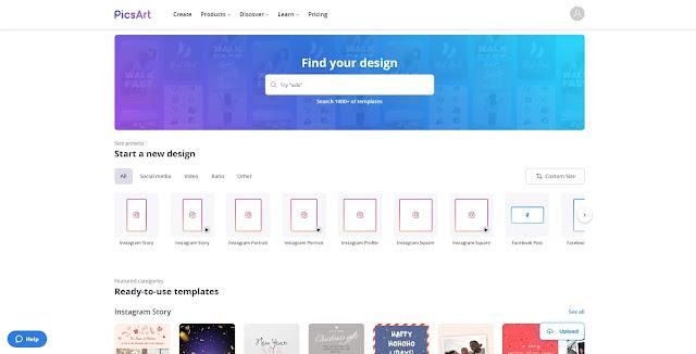 Platform Buat Desain Grafis Terbaik : PicsArt