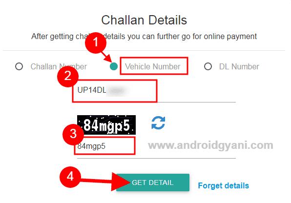 e-challan check kaise kare