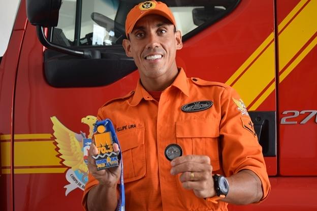 Bombeiro alagoano conquista vaga para o mundial Ironman 70.3