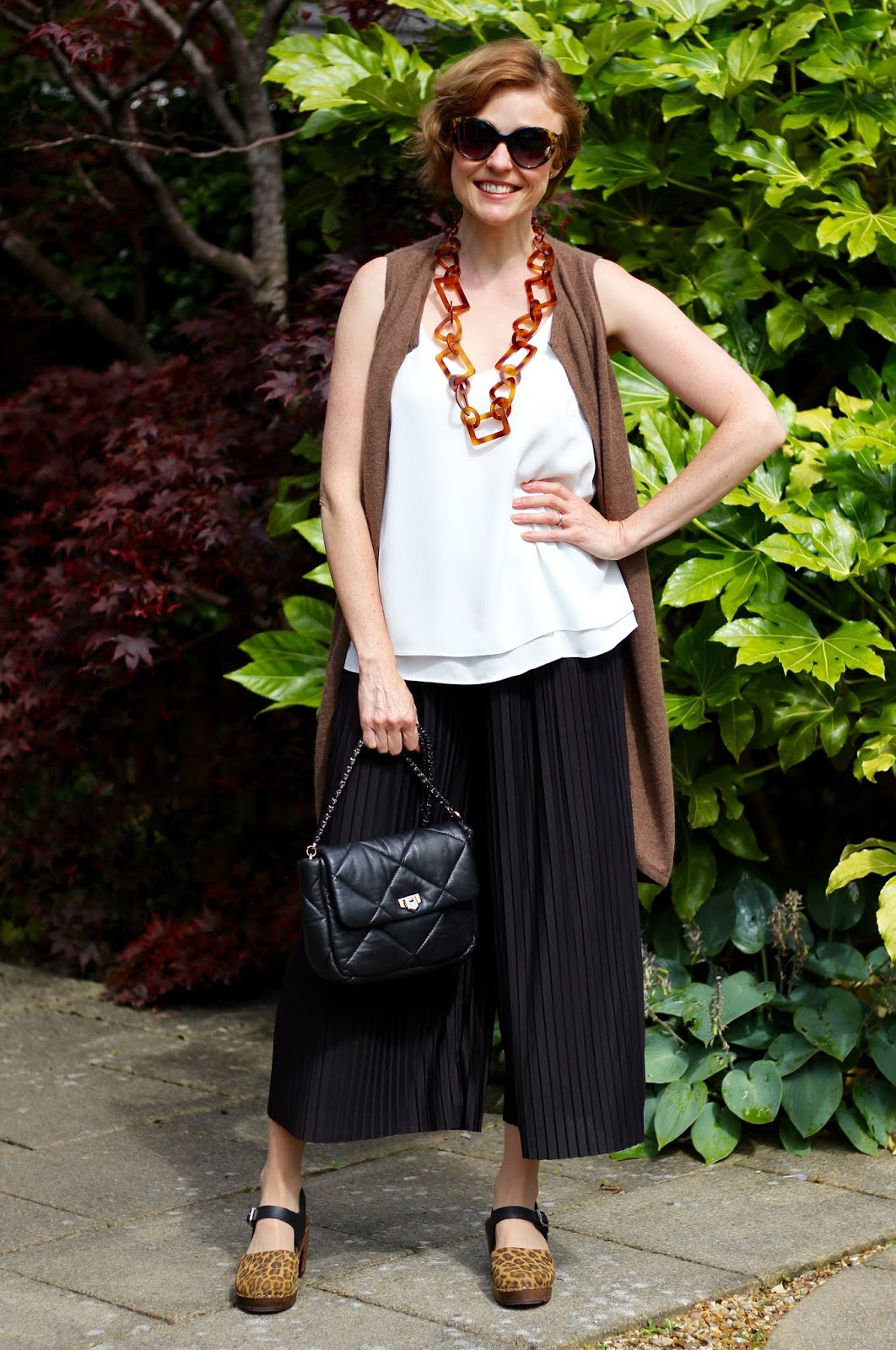 Bloated Belly Outfit | Culottes, Camisole and Long Waistcoat