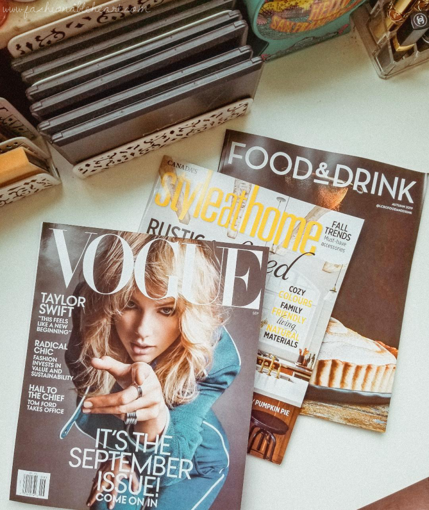 bblogger, bbloggers, bbloggersca, bbloggerca, canadian beauty bloggers, southern blogger, lifestyle blog, friday faves, favorites, music, reading, smells, pumpkin, fall, autumn, taylor swift, september issue, vogue, canada style and home, style & home, food & drink, magazines, fall issues