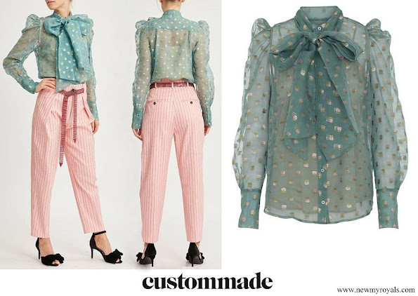 Crown Princess Victoria wore CUSTOMMADE Numbers Zofja blouse