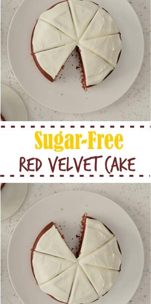 Sugar-Free Red Velvet Cake