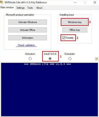 Melakukan Aktivasi Windows 10 dengan KMS Auto Lite