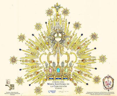 Nueva corona y puñal para María Stma. de la Concepción, Dolorosa de la Hermandad del Despojado de Cádiz