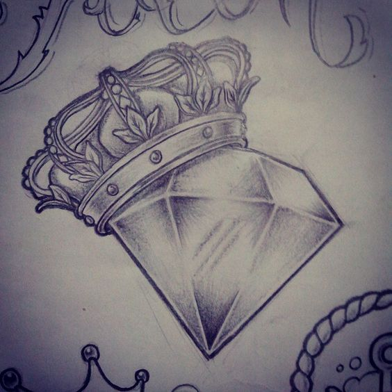 Crown Diamond Tattoos
