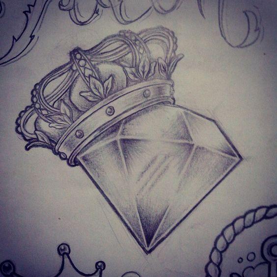 Crown Diamond Tattoos