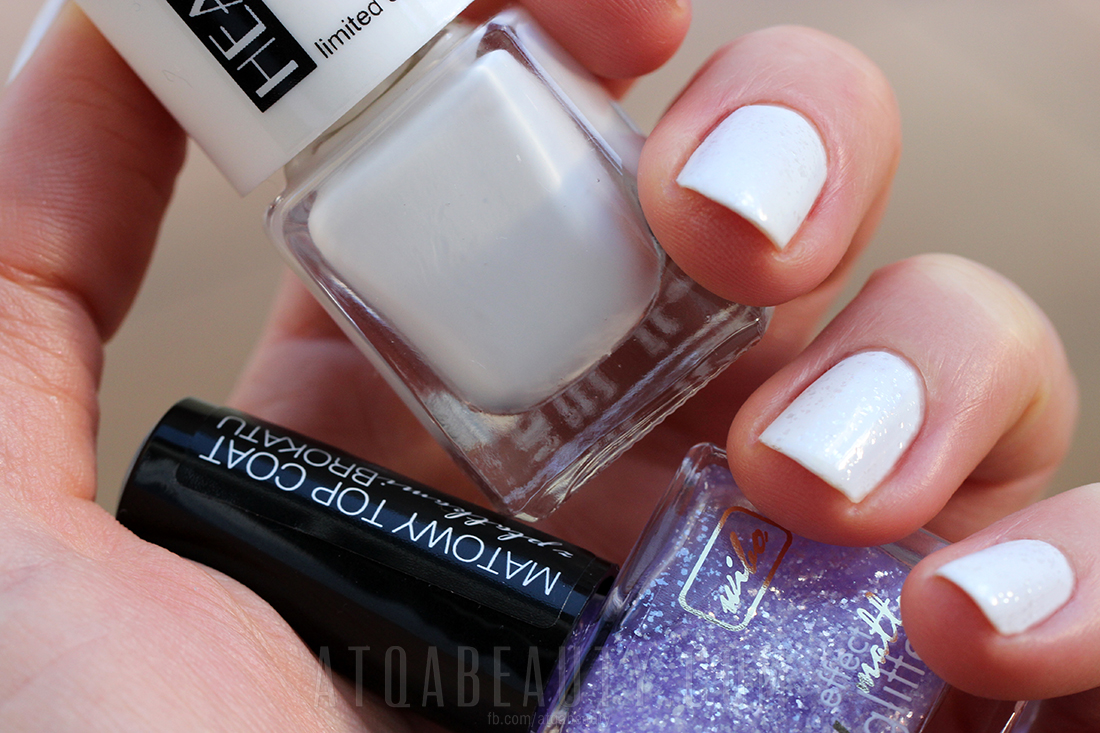 Biało :: Hean 210 & Wibo WOW Effect Matte Glitters 3