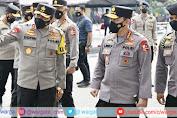 Kapolri Tinjau Pelaksanaan Vaksinasi Covid-19 Tahap ke II di Jajaran Polda Jawa Barat