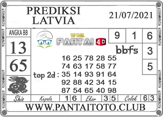 PREDIKSI TOGEL LATVIA PANTAI4D 21 JULI 2021