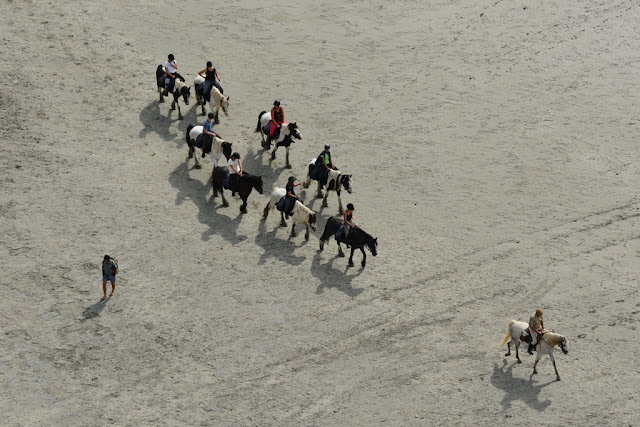 Views Mont Saint-Michel horse back riding