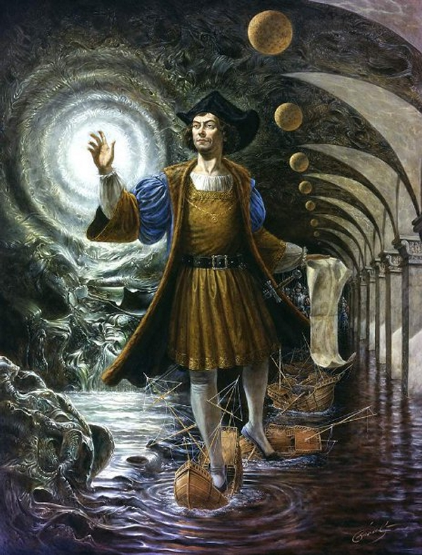09-terra-incognita-columbus-Michael-Cheval-Surreal-Paintings-that-Draw-inspiration-from-The-East-and-West-www-designstack-co