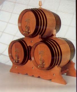 Juego de 3 toneles o barriles de 16 litros