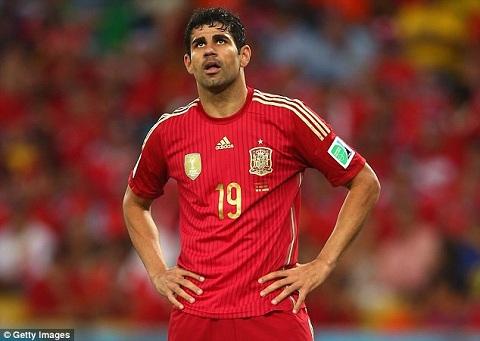 Diego Costa đã có một kỳ World Cup thất bại trong màu áo ĐT Tây Ban Nha