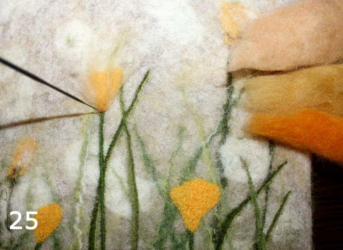Case for Tablet - felting wool.