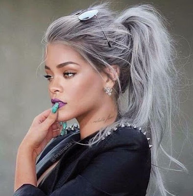 rihanna gray hairstyle