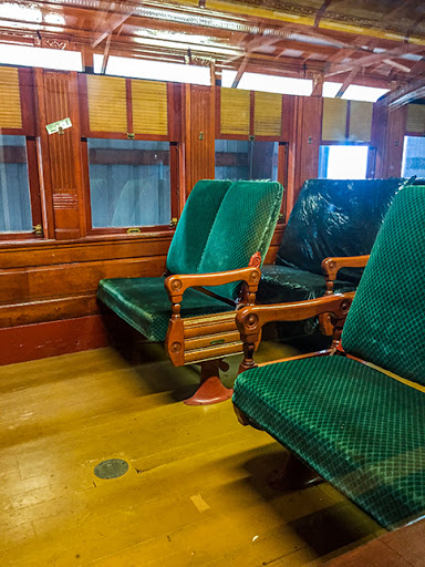 Passenger Car in the Coach House at the Mid-Continent Railroad Museum in North Freedom