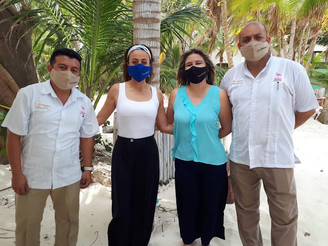 Antonio Bacab, Lucero Clalixto, Vanessa Magallanes y Miguel Cisneros