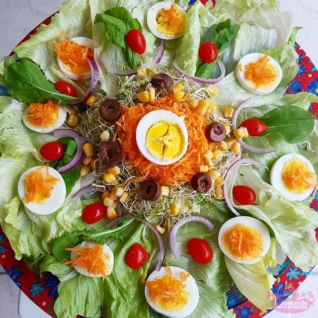 Dica de salada com alfafa