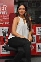 Tanya Hope in a whtie shirt and leggings at Song launch of Movie Patel Sir ~  Exclusive Celebrities Galleries 050.JPG