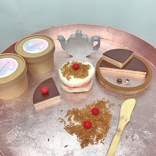 Afternoon tea party fractions cake playdough set