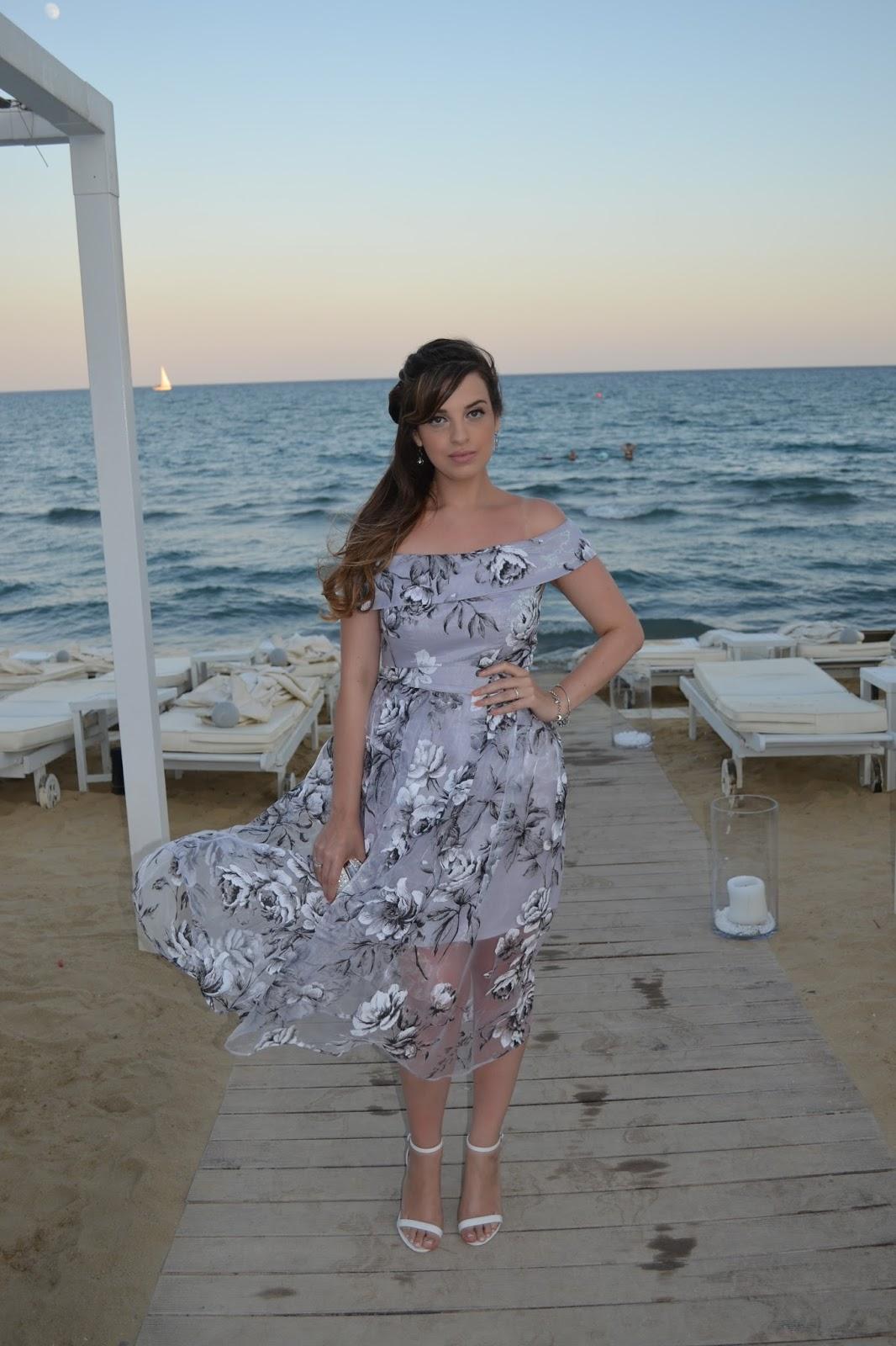 Midi Dress Floral Organza