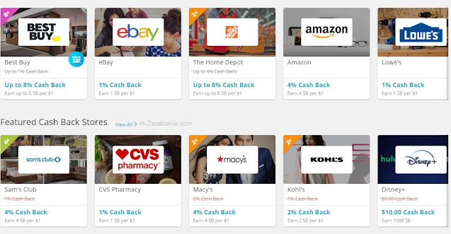 SwagBucks, cash back, zakupy.