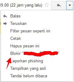 Cara Memblokir Alamat Email Pada Gmail
