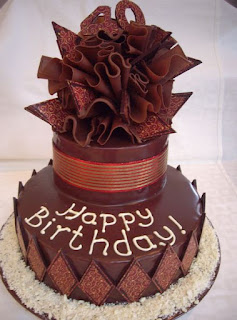 kue ulang tahun coklat mewah