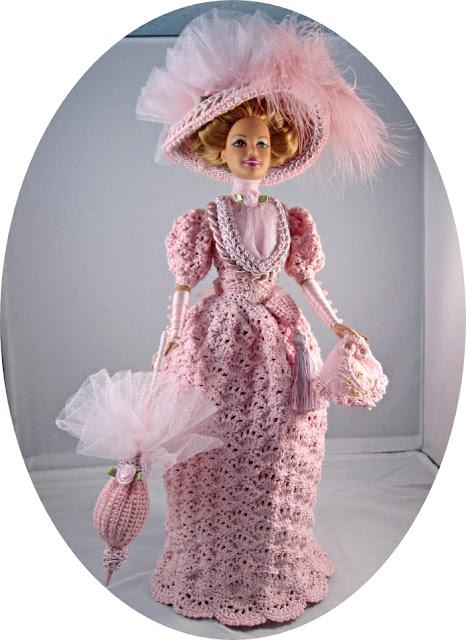 Barbie Crochet 1894 Visiting Dress Costume