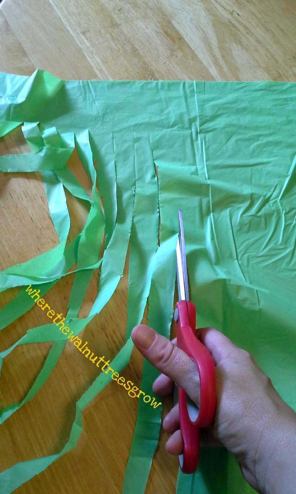 Where The Walnut Trees Grow Diy Hula Skirt From Plastic Tablecloth
