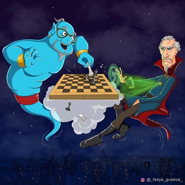 Artista russa ilustra personagens famosos em sua velhice, e Thor é adorável 13