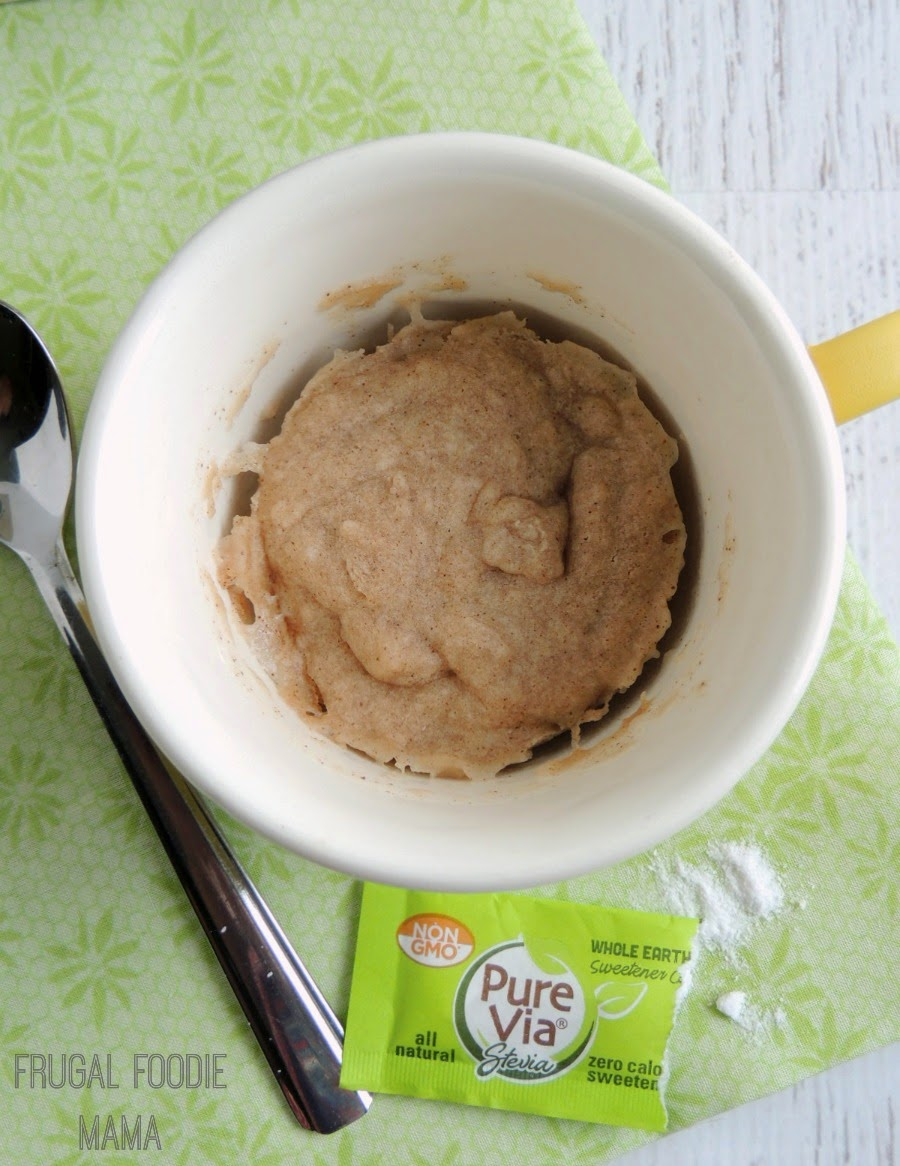 This Guilt-Free Snickerdoodle Mug Cake is a comforting, low calorie, perfectly portioned for one microwave dessert!
